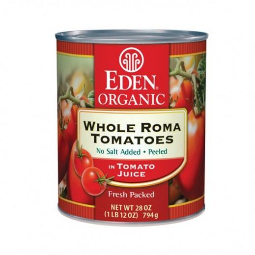 إيدن – طماطم روما كاملة الحبة عضوية في عصير طماطم عضوية 794 جرام