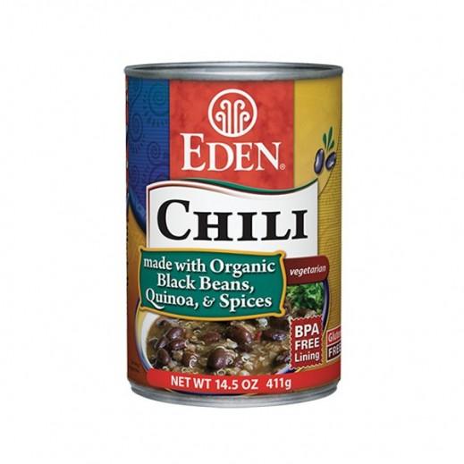 إيدن – تشيلي من فاصولياء سوداء عضوية وكوينوا وتوابل 411 جرام