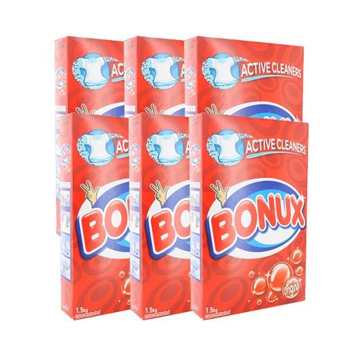 """بونكس – مسحوق الغسيل للغسالات العادية """" عطر أصلي """" 1.5 كجم × 6 حبة - أسعار الجملة"""