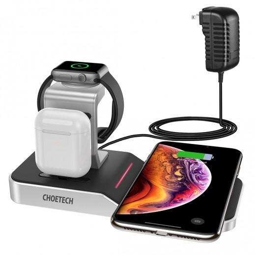 جيوتك - قاعدة شحن لاسلكي 4 فى 1 لأجهزة Apple - فصي