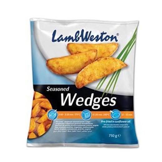 لامب ويستون – شرائح البطاطا المتبلة المقلية مسبقاً (بالقشرة) 750 جم
