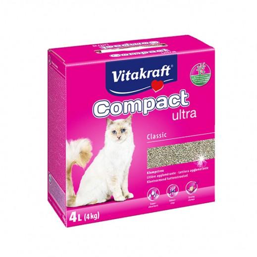 """فيتا كرافت – رمل القطط """"كومباكت ألترا كلاسيك"""" من مكونات طبيعية 4 كيلوجرام"""