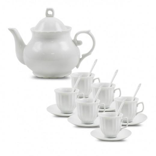 طقم فناجين قهوة وغلاية من البورسلان 19 قطع