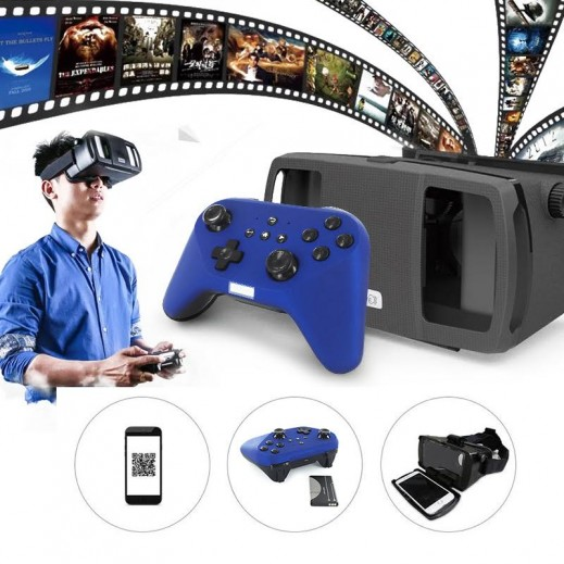 bbcd4b2c8 اشتري نظارات LEFANT 3D VR للهواتف الذكية مع يدة تحكم بلوتوث للالعاب ...