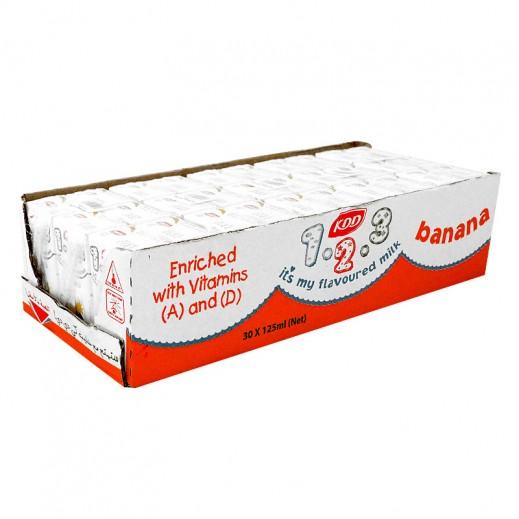 كى دى دى – حليب بنكهة الموز 125 مل ( 3 كرتون × 30 حبة ) -  أسعار الجملة