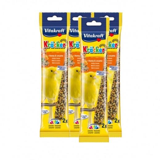 فيتا كرافت – حبوب (كراكر) بالعسل والسمسم لطائر الكناري 4 حبة × 58 جم - أسعار الجملة
