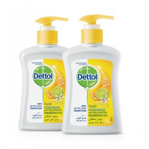 """ديتول - سائل """"منعش"""" لغسل اليدين 2 ×200 مل"""