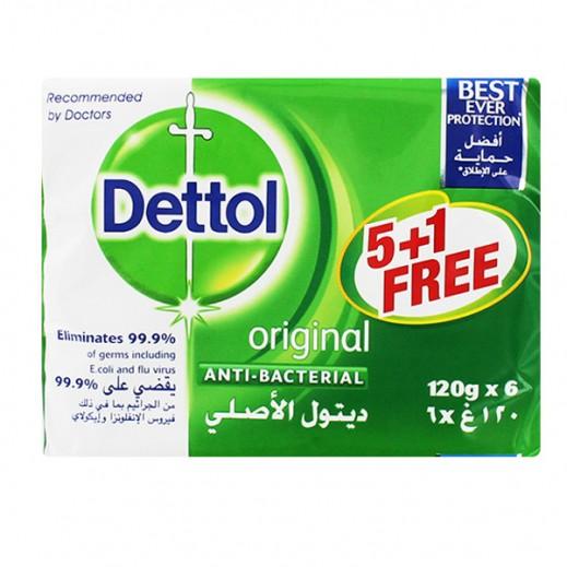 ديتول – صابون ديتول الأصلي المضاد للجراثيم – 120 جم (5 حبة + 1 مجاناً)