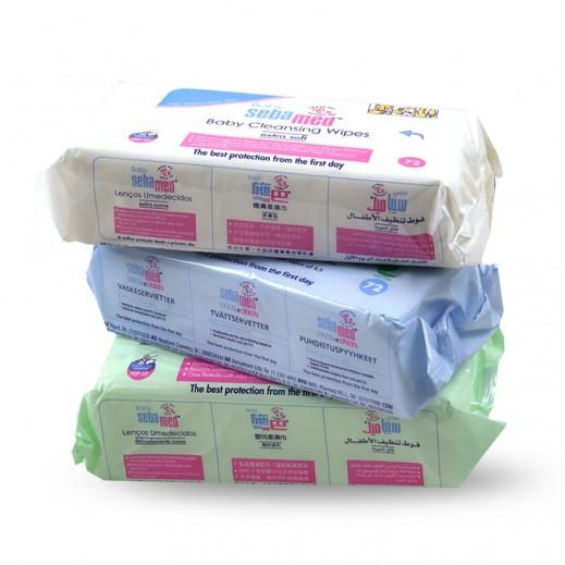 سيباميد – فوط مبللة لتنظيف الأطفال 3 × 72 قطعة (متنوعة)