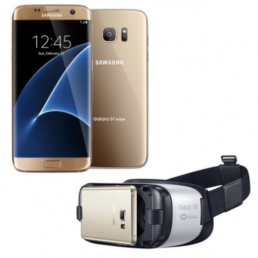 سامسونج جالكسي S7 مزدوج الشريحة 32 جيجابايت ذهبي + سامسونج Gear VR