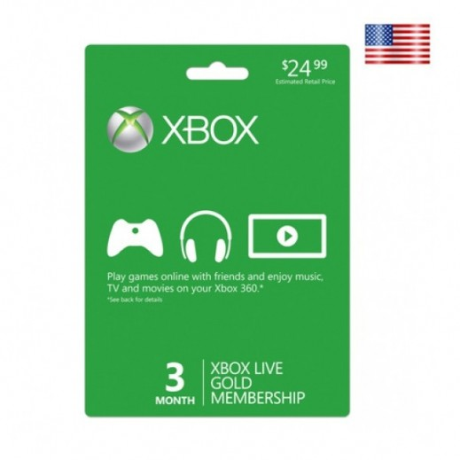 Xbox 3 Month Subscription (Items Delivered by E-mail)
