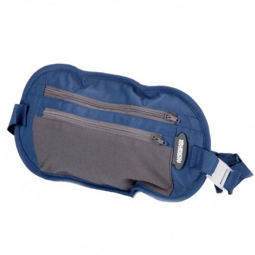 أميركان توريستر – حقيبة حزام لحفظ النقود (أزرق)