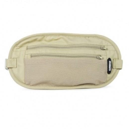 أميركان توريستر – حقيبة حزام لحفظ النقود (بيج)