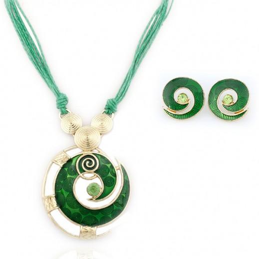 نيكسون – طقم مجوهرات 20 قيراط مطلي بالذهب  خالي من النيكل (أخضر) - موديل M00397