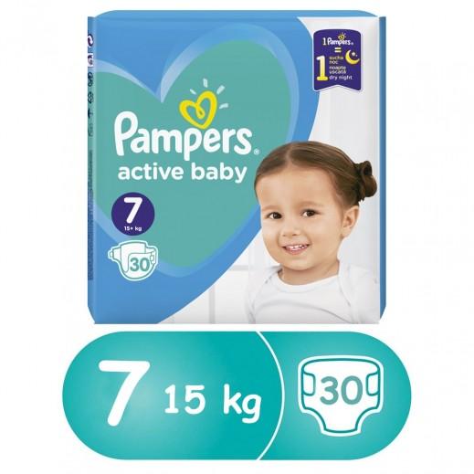 بامبرز - حفاضات أطفال المرحلة 6 (+15 كجم ) 30 حفاضة