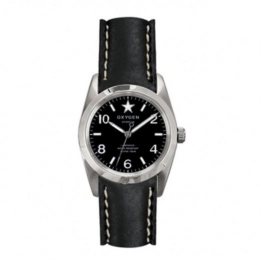 """أكسجين – ساعة """"سبورت"""" للسيدات بحزام رمادي/أسود موديل EX-S-WAS-34"""