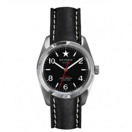 """أكسجين – ساعة """"سبورت"""" للسيدات بحزام أحمر/أسود موديل EX-S-WAS-34"""
