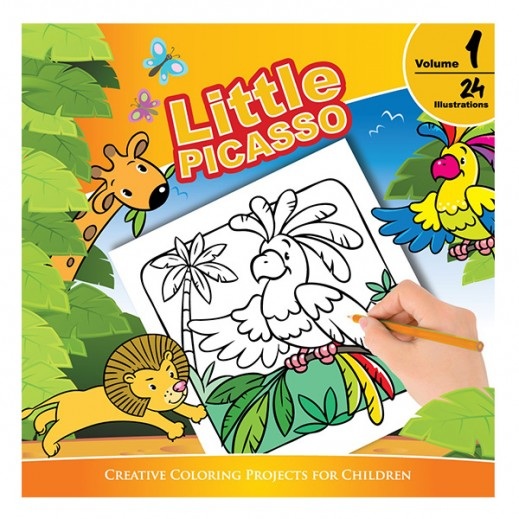 ليتل بيكاسو – كتاب تلوين للأطفال مجلد رقم 1