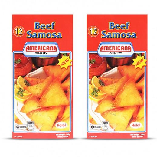 أمريكانا - سمبوسة لحم بقري 12 قطعة × 240 جم (2 حبة)