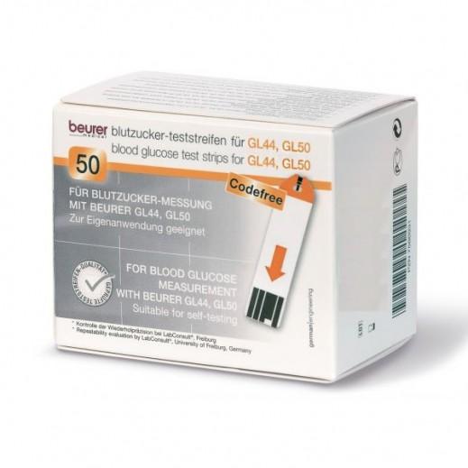 بيورير – شرائط فحص نسبة السكر في الدم 50 حبة GL 50