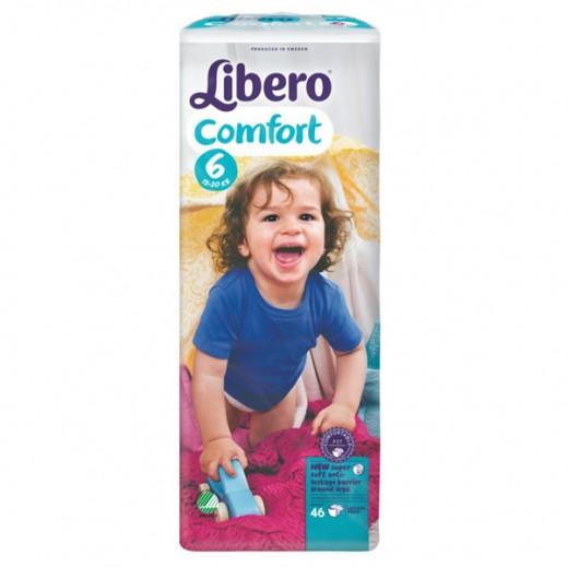 """ليبرو – حفاضات أطفال """" كومفرت فيت """" المرحلة 6 ( 13 – 20 كجم ) 46 حبة"""