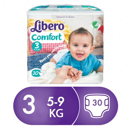 """ليبرو – حفاضات أطفال """" بيبي سوفت """" المرحلة 3 (5– 9 كجم) 30 حبة"""