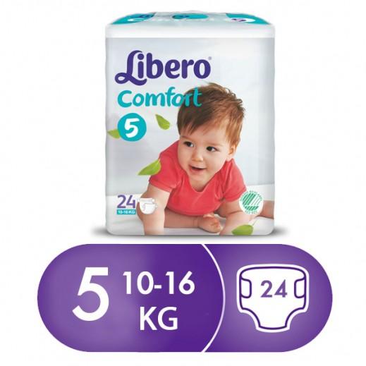 """ليبرو – حفاضات أطفال """" كومفرت فيت """" المرحلة 5 ( 10 – 16 كجم ) 24 حبة"""
