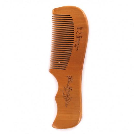 يويان - مشط شعر خشبي بمقبض