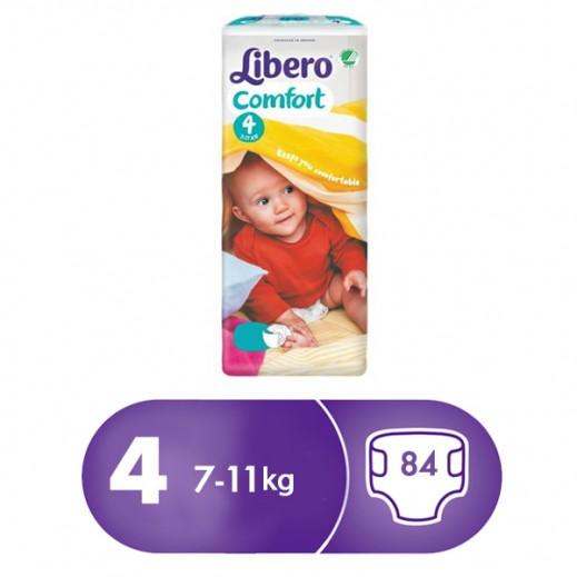 """ليبرو – حفاضات أطفال """" كومفرت فيت """" المرحلة 4 ( 7 – 11 كجم ) 84 حبة"""