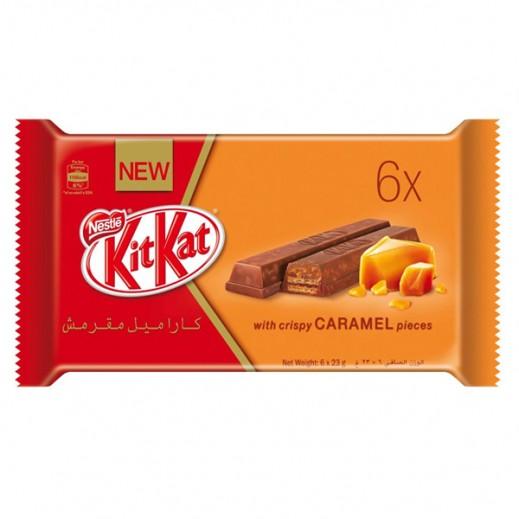 كيت كات - شوكولاته بالكراميل 2 صابع (6 × 23 جرام)