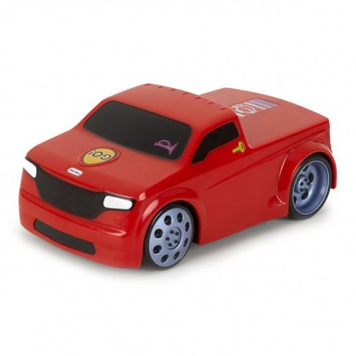 """ليتل تايكس – لعبة شاحنة السباق """"تاتش أند جو"""" – لون أحمر"""