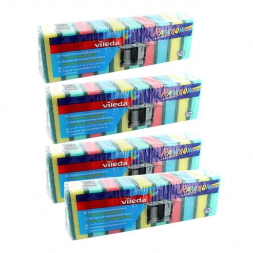 فيليدا – إسفنج الجلي متعدد الألوان 10 حبة (4 عبوة) - عرض التوفير