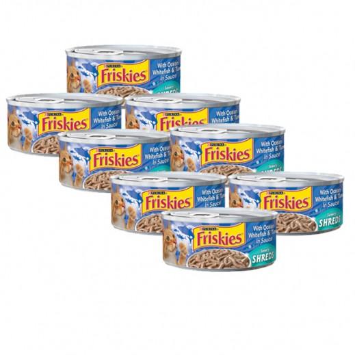 فرسكس – طعام القطط بسمك المحيط الأبيض والتونة مع المرق 156 جم (8 حبة)