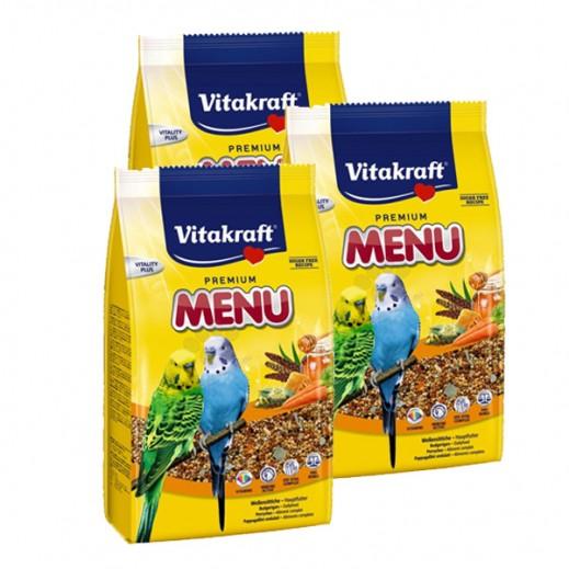 فيتا كرافت – حبوب غذاء (منيو) لطائر البغبغاء 500 جم (3 حبة)