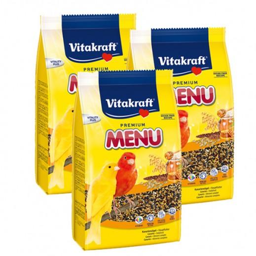 فيتا كرافت – حبوب غذاء (منيو) بنكهة العسل لطائر الكناري 500 جم ( 3 حبة)