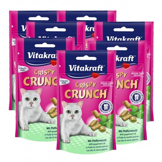 فيتا كرافت – كيس طعام كريسبي كرانش للقطط بنكهة النعناع 60 جم (8 حبة) - أسعار الجملة