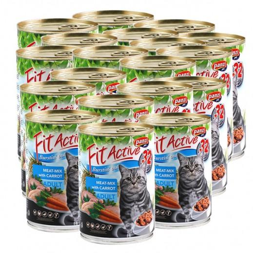 بانزي – طعام فيت أكتيف للقطط البالغة باللحم مع الجزر 415 جم (24 حبة) - أسعار الجملة
