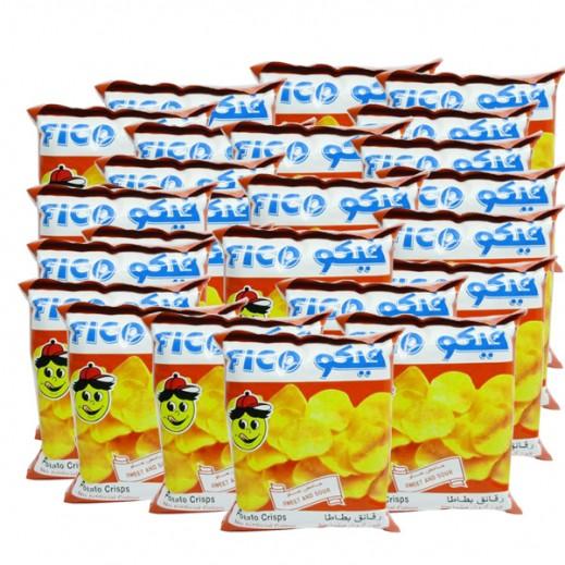 فيكو - رقائق بطاطا حامض حلو 100× 18جم