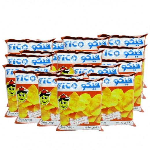 فيكو - رقائق بطاطا حامض حلو 18جم (20 حبة)