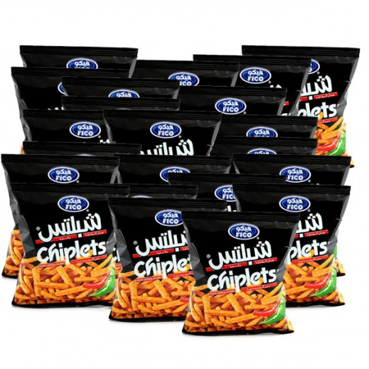 فيكو شبلتس - عيدان البطاطا والذرة بنكهة الفلفل الحار 15 جم (20 حبة)