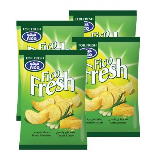 فيكو فريش - رقائق بطاطا بالجبنة والبصل 27 جم (10 حبة)