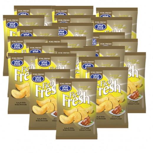 فيكو فريش - رقائق بطاطا بطعم الدجاج مع الكالسيوم  16 جم (20 حبة)