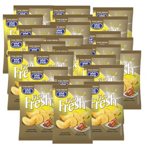 فيكو فريش - رقائق بطاطا بطعم الدجاج مع الكالسيوم 100× 15 جم
