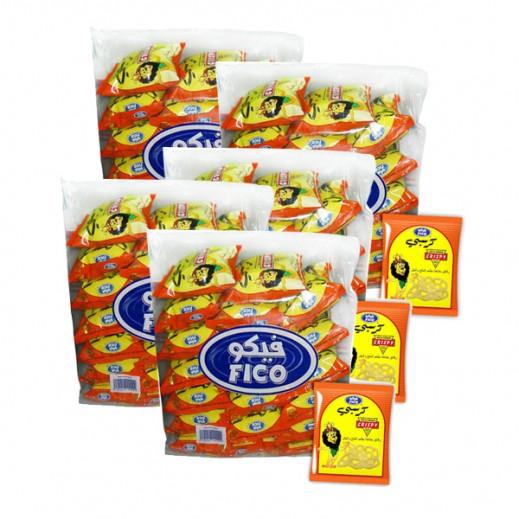 """فيكو – رقائق البطاطا """" كرسبي """" بطعم الملح والخل 15 جم ( 5 × 20 حبة ) - أسعار الجملة"""