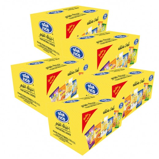فيكو – بطاطا طبيعية نكهات متنوعة 16 جم ( 5 × 20 حبة ) أسعار الجملة