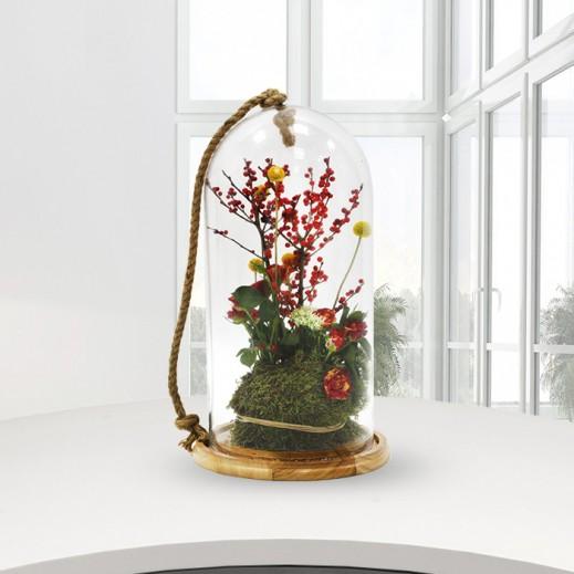 زهور بيبي روز مع حبات الكرز - يتم التوصيل بواسطة Gate Of Flowers