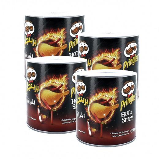 برنجلز – بطاطا شيبس حار 4×40 جم