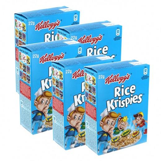 """كلوقز – رقائق فطور """"رايس كريسبيز"""" من الأرز المحمص (5 حبة ×22 جم)"""