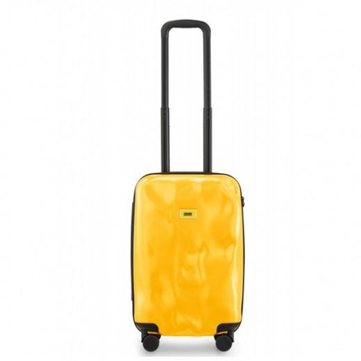 (كراش باجيدج – حقيبة سفر أصفر اللون 04 – حجم صغير (55 × 36 × 20 سم