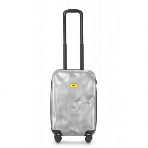 (كراش باجيدج – حقيبة سفر فضية مقاس 21 – حجم صغير  (55 × 36 × 20 سم